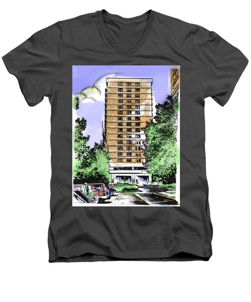 Skyline House Condo Men's V-Neck T-Shirt