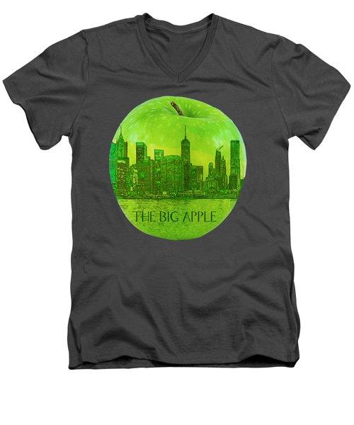 Skyline Of The Big Apple, New York City, United States Men's V-Neck T-Shirt