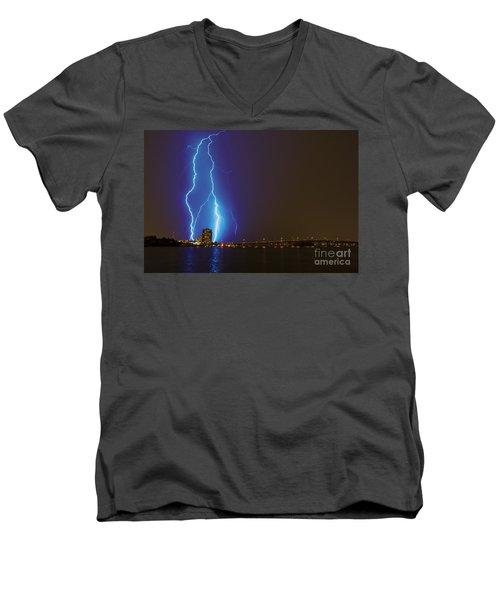 Sky's The Limit Men's V-Neck T-Shirt by Quinn Sedam