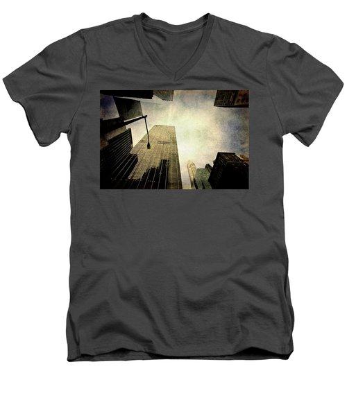 Skyscrapers Men's V-Neck T-Shirt