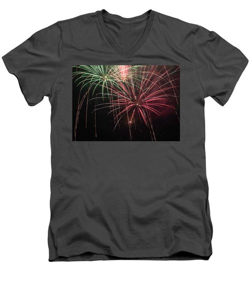 Men's V-Neck T-Shirt featuring the photograph Skytosa by Michael Nowotny