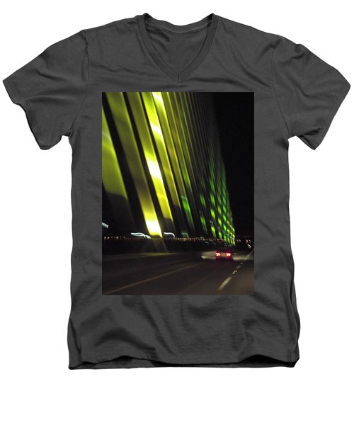 Skyway At Night 5559 Men's V-Neck T-Shirt