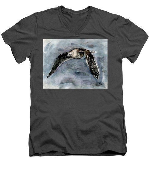 Slaty-backed Gull Men's V-Neck T-Shirt