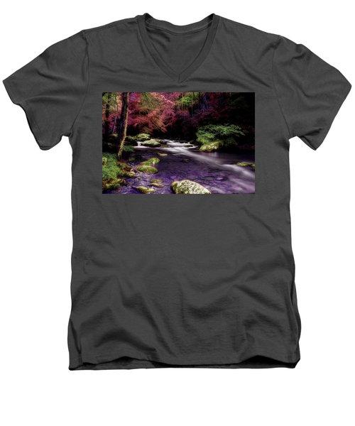 Sleep Walking Men's V-Neck T-Shirt by Mike Eingle