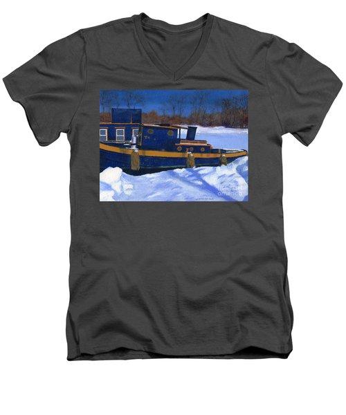 Sleeping Barge Men's V-Neck T-Shirt