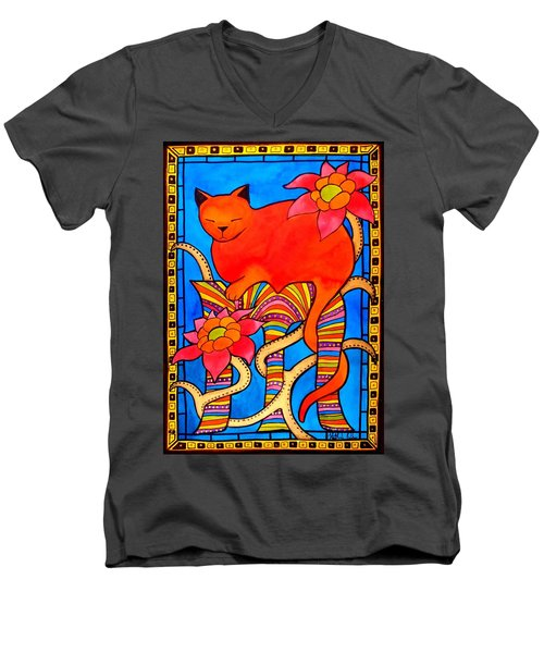 Sleeping Beauty By Dora Hathazi Mendes Men's V-Neck T-Shirt