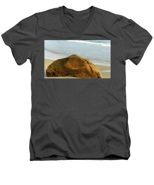 Sleeping Giant At Marthas Vineyard Men's V-Neck T-Shirt