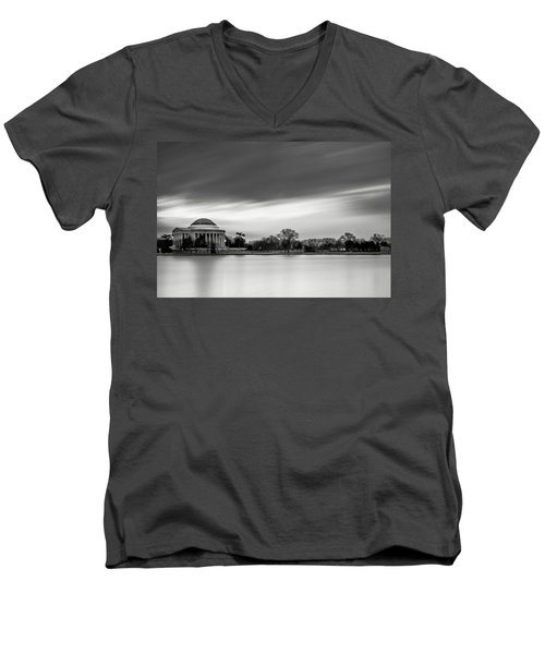 Sleeping Giant Men's V-Neck T-Shirt by Edward Kreis