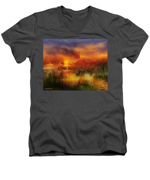 Sleeping Nature II Men's V-Neck T-Shirt