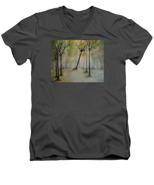 Sleeping Trees Men's V-Neck T-Shirt by Tamara Bettencourt