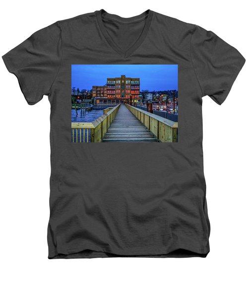 Sleepy Hollow Pier Men's V-Neck T-Shirt