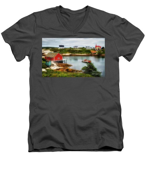 Sleepy Seascape Men's V-Neck T-Shirt