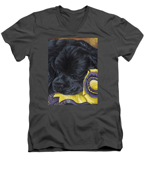 Sleepy Time Spader Men's V-Neck T-Shirt by Gilda Goodwin