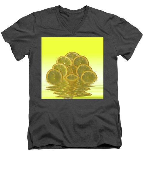 Slices Lemon Citrus Fruit Men's V-Neck T-Shirt