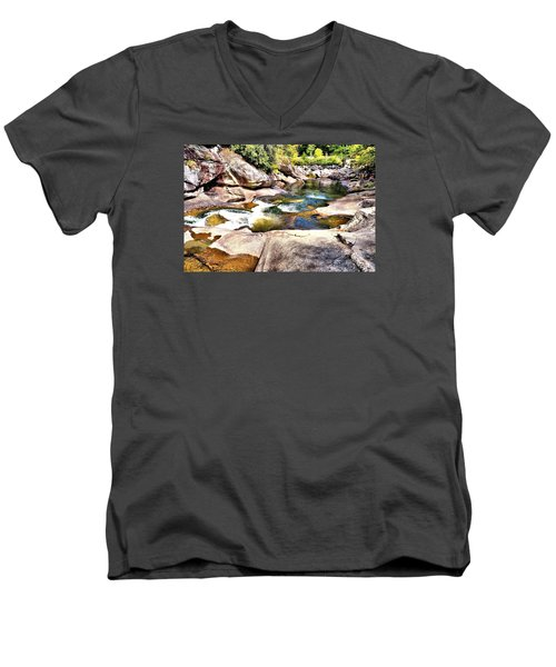 Sliding Rock Falls Men's V-Neck T-Shirt