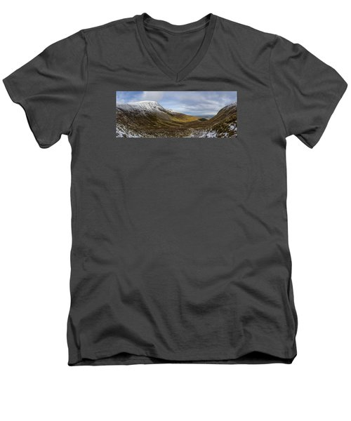 Slieve Commedagh And Slieve Donard Panorama From The Assent  Men's V-Neck T-Shirt