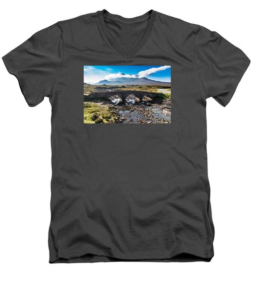 Skye Cuillin From Sligachan Men's V-Neck T-Shirt by Gary Eason