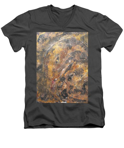 Slither Men's V-Neck T-Shirt by Maria Watt