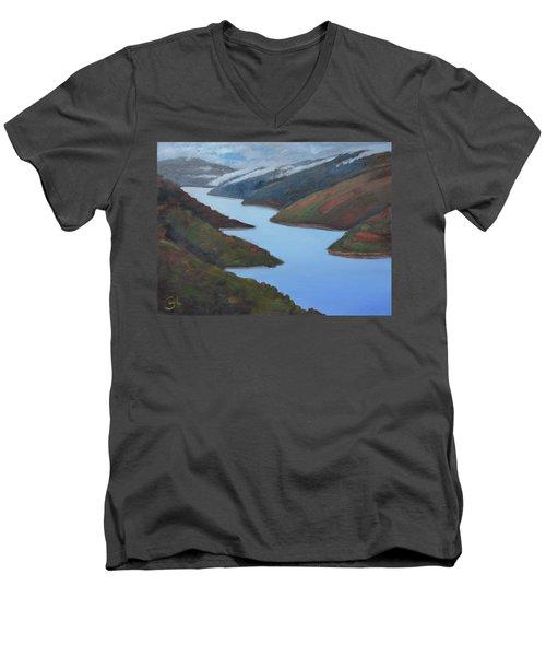 Sliver Of Crystal Springs Men's V-Neck T-Shirt