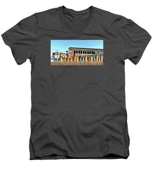 Sloppy Tuna Restaurant, Montauk Long Island Men's V-Neck T-Shirt
