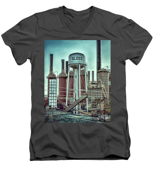 Sloss Furnaces Tower 3 Men's V-Neck T-Shirt