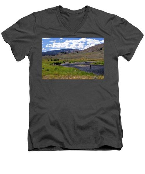 Slough Creek Angler Men's V-Neck T-Shirt