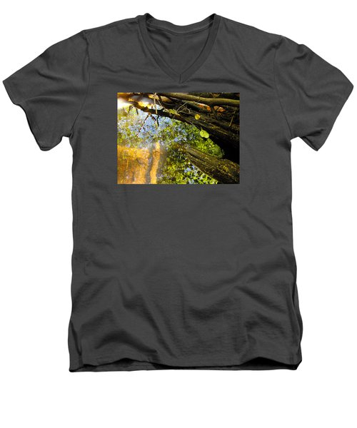 Slow Creek Men's V-Neck T-Shirt by Adria Trail