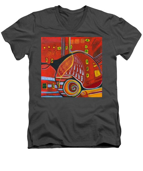 Slow Down Men's V-Neck T-Shirt by Leela Payne