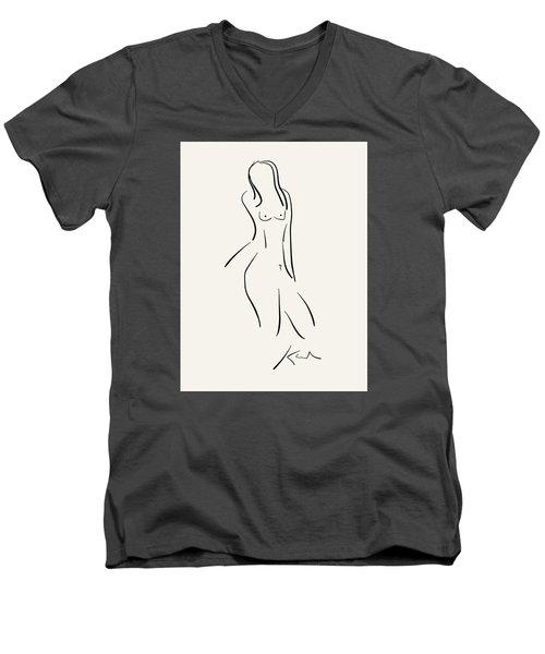 Slow Jam I Men's V-Neck T-Shirt by Karl Reid