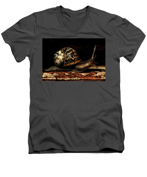 Men's V-Neck T-Shirt featuring the photograph Slow Mover by Nick Bywater