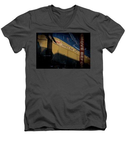 Men's V-Neck T-Shirt featuring the photograph Sma Ssorc Der As by Paul Job