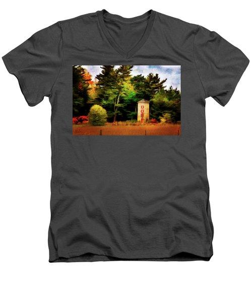 Small Autumn Silo Men's V-Neck T-Shirt