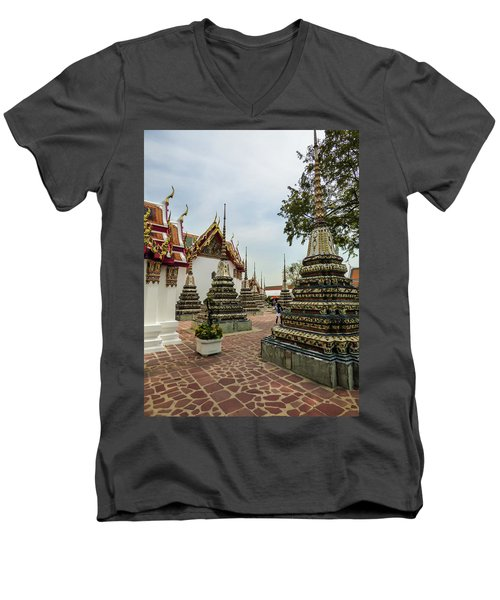 Small Beautiful Stupas At Wat Pho Temple Men's V-Neck T-Shirt