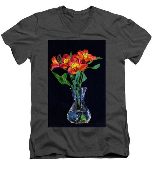 Small Bouquet Of Flowers Men's V-Neck T-Shirt