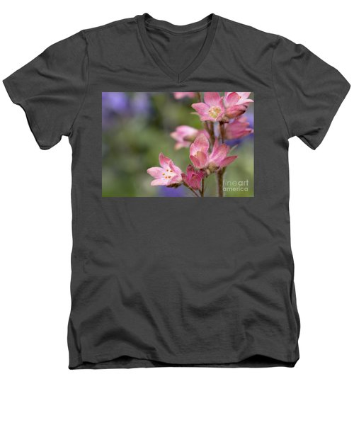 Small Flowers Men's V-Neck T-Shirt by Tine Nordbred