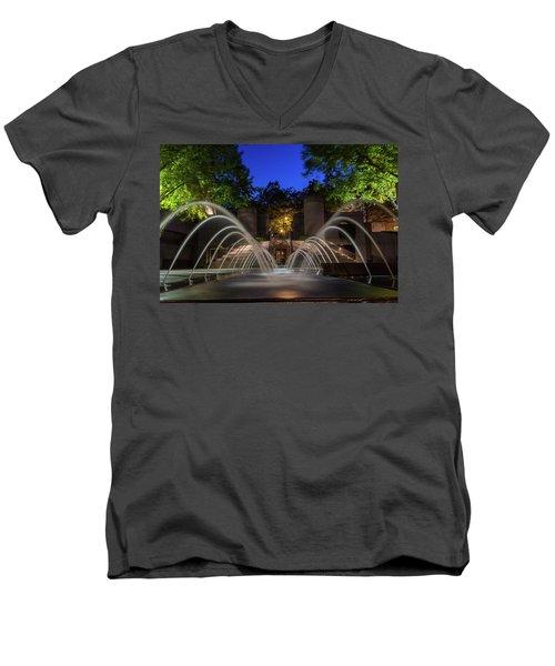 Small Fountain Men's V-Neck T-Shirt