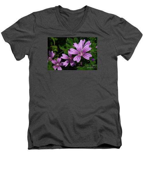Small Mauve Flowers 6 Men's V-Neck T-Shirt