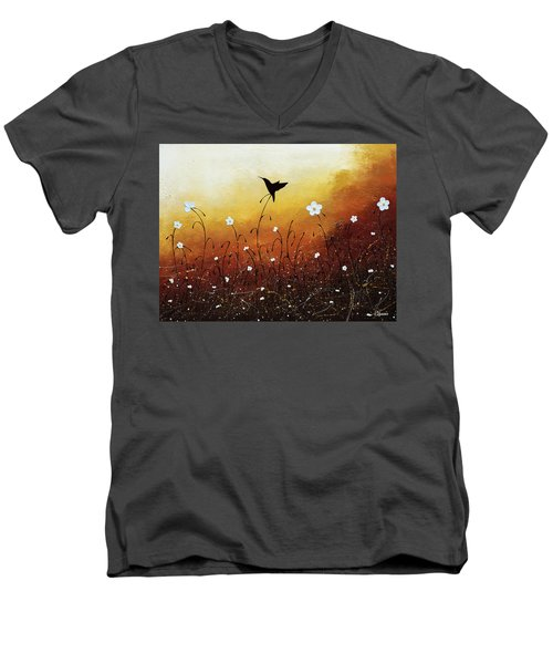 Men's V-Neck T-Shirt featuring the painting Small Treasure by Carmen Guedez