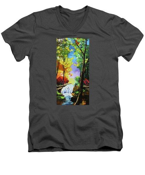 Small Waterfall Men's V-Neck T-Shirt