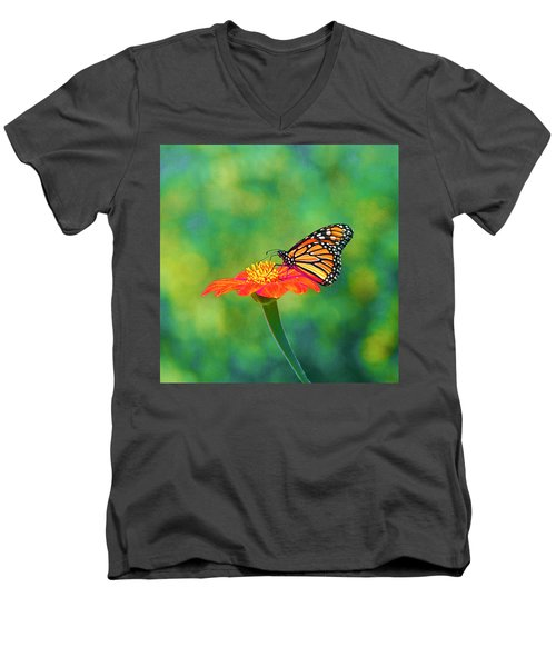 Men's V-Neck T-Shirt featuring the photograph Small Wonders by Byron Varvarigos