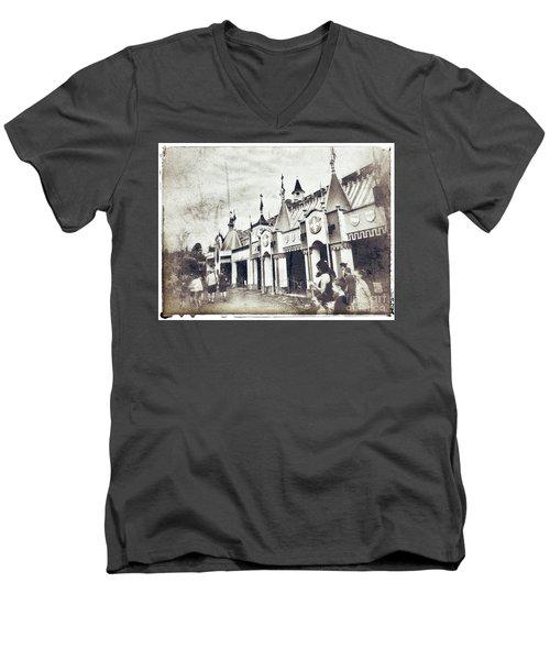 Small World Men's V-Neck T-Shirt by Jason Nicholas