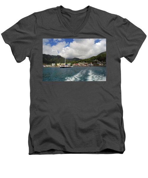 Men's V-Neck T-Shirt featuring the photograph Smalll Village by Gary Wonning