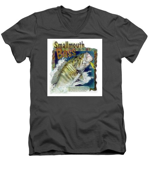 Smallmouth Bass Men's V-Neck T-Shirt
