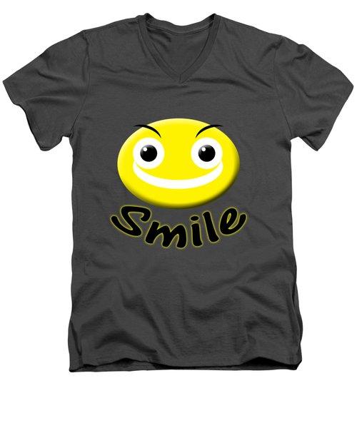 Smile T-shirt Men's V-Neck T-Shirt