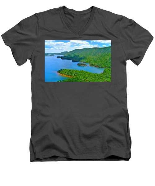 Smith Mountain Lake Poker Run Men's V-Neck T-Shirt