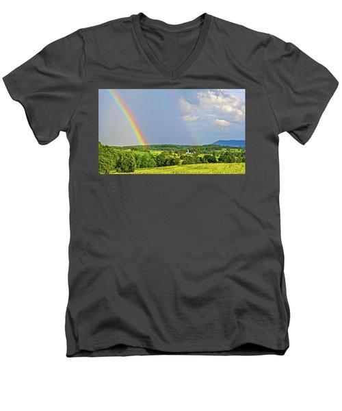 Smith Mountain Lake Rainbow Men's V-Neck T-Shirt