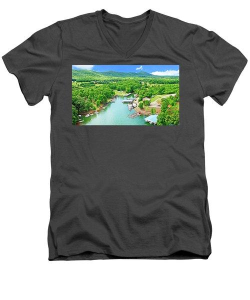 Smith Mountain Lake, Virginia. Men's V-Neck T-Shirt