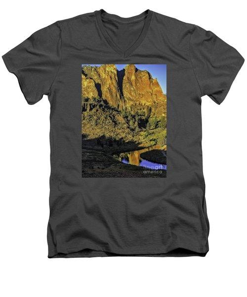 Smith Rock Reflections-1 Men's V-Neck T-Shirt