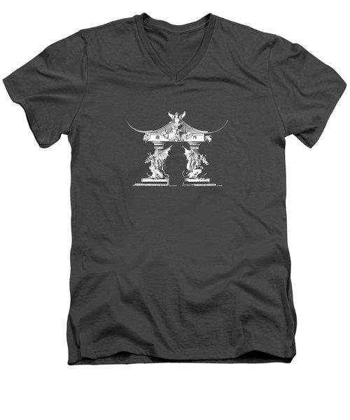 Smok Men's V-Neck T-Shirt by Julio Lopez