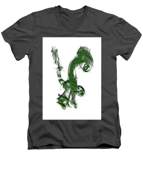 Smoke 01 - Green Men's V-Neck T-Shirt